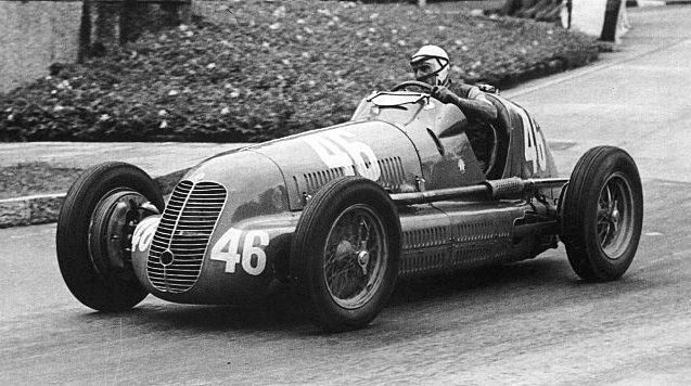 Tazio Nuvolari Winning in a Maserati 4CL